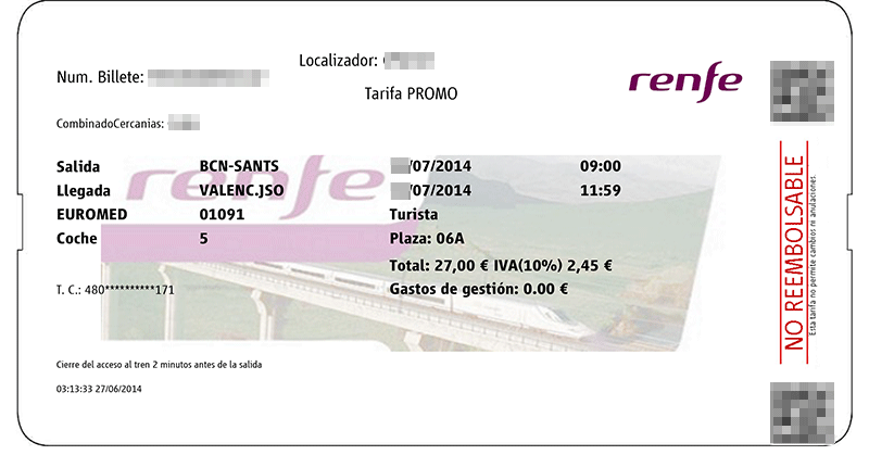spain train tickets