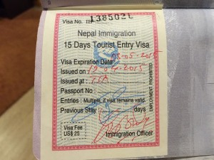 A Quick Note On Speeding Through Getting a Visa On Arrival at Kathmandu Airport
