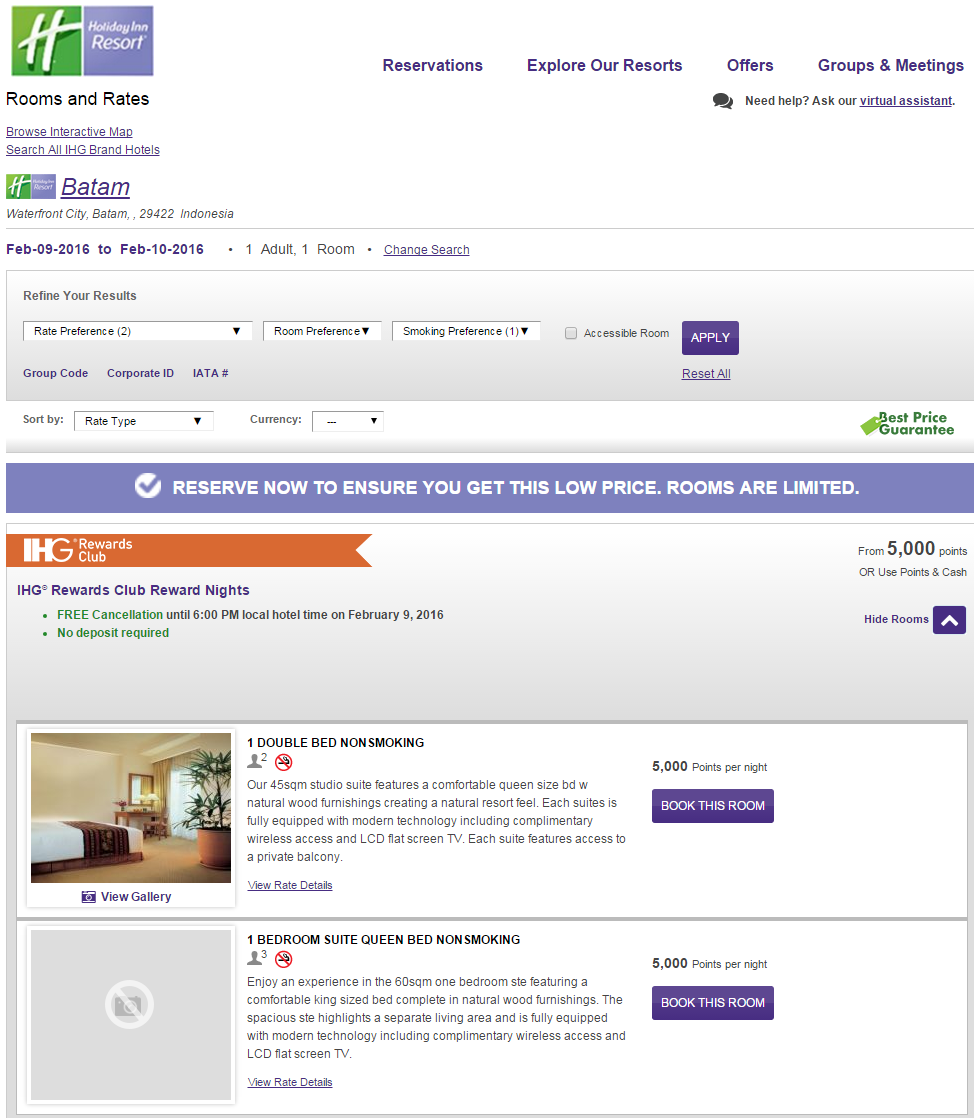 Some IHG PointBreaks Hotels Pricing Suites And Premium Rooms At Only 5,000 Points