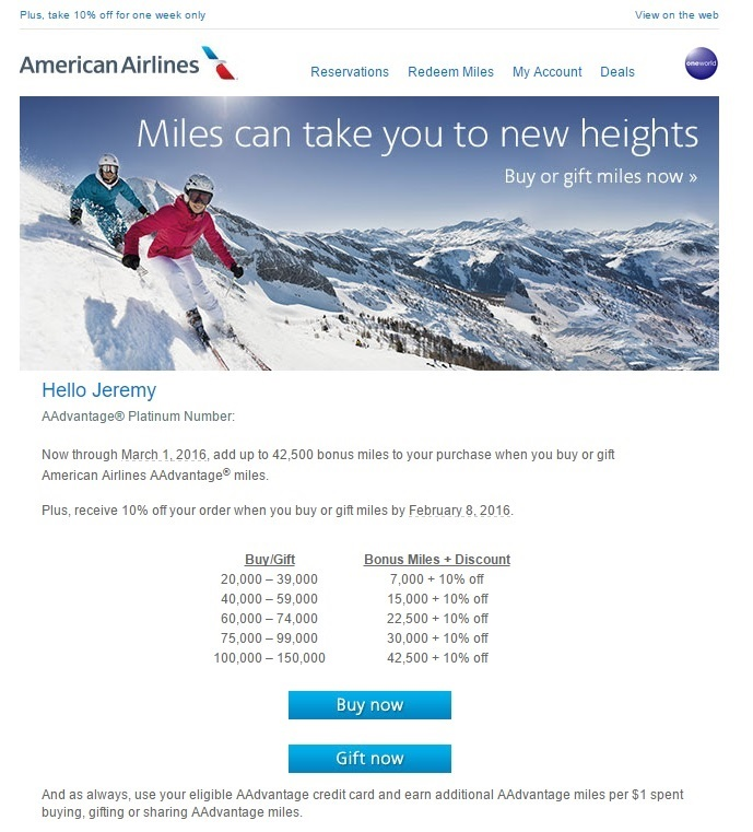 American Airlines Miles Sale – Should You Buy Miles?