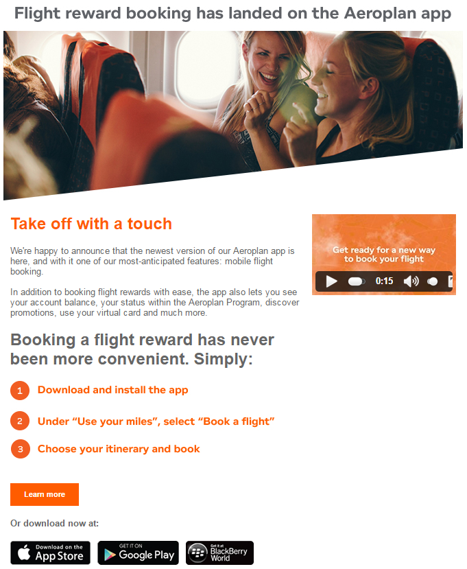 You Can Now Search StarAlliance Award Space Using The Aeroplan Smartphone App On Android, Apple, and Blackberry Devices