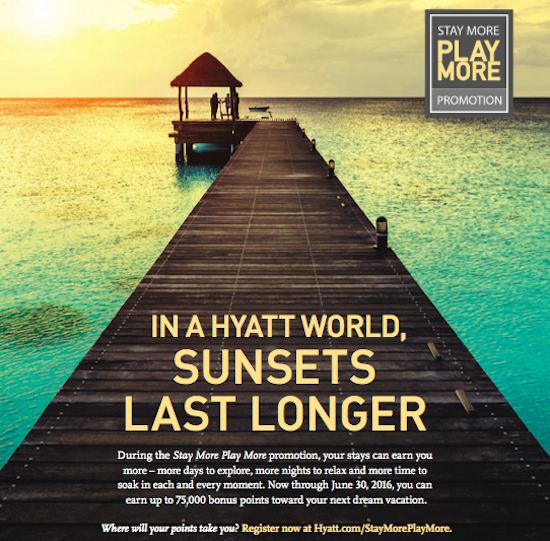 Hyatt Promotion – Earn up to 75,000 Bonus Points