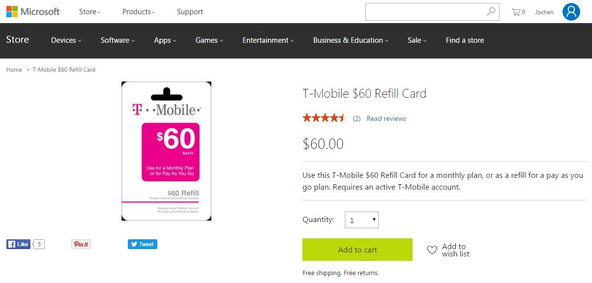 You Can Pay Your T-Mobile Prepaid Plan With Earn by Microsoft Credits